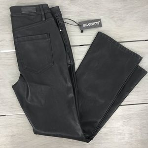NWT BlankNYC faux black leather pants size 25